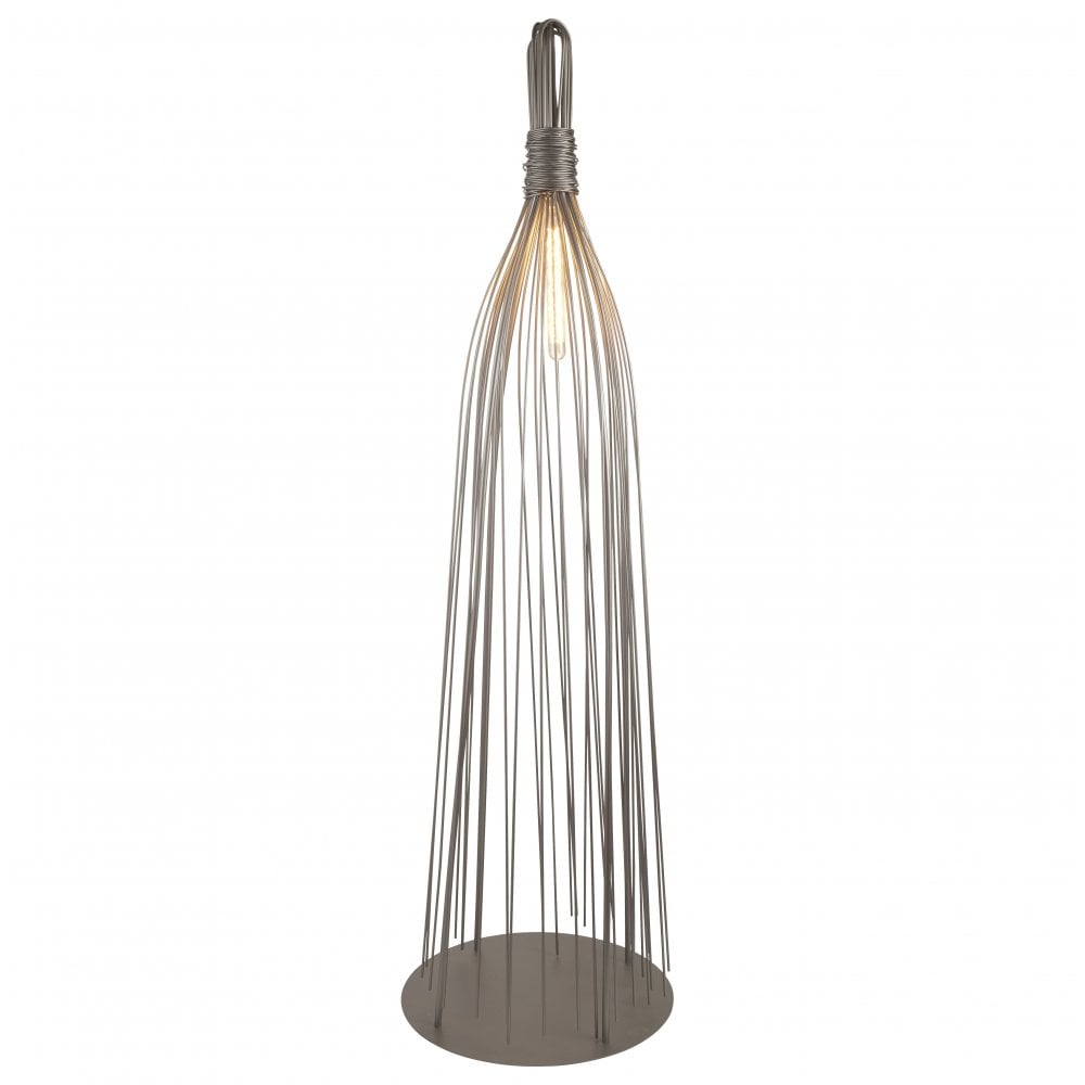 Searchlight 1871GY Caraffe Twisted Cage Frame Floor Lamp ...