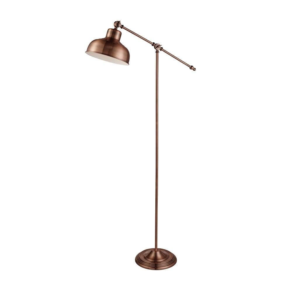 Antique Copper Industrial Floor Lamp
